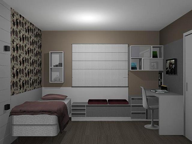 decoracao de interiores quartos de solteiro – Doitri com ~ Quarto Solteiro Com Escritorio